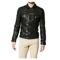 Laverapelle Men's Genuine Lambskin Leather Jacket (Officer Jacket) - 1501495