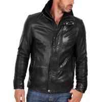 Laverapelle Men's Genuine Lambskin Leather Jacket (Classic Jacket) - 1501105