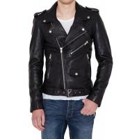 Laverapelle Men's Genuine Lambskin Leather Jacket (Double Rider Jacket) - 1501398