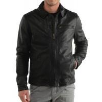 Laverapelle Men's Genuine Lambskin Leather Jacket (Aviator Jacket) - 1501399