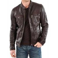 Laverapelle Men's Genuine Lambskin Leather Jacket (Officer Jacket) - 1501138