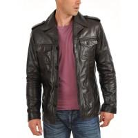 Laverapelle Men's Genuine Lambskin Leather Jacket (Regal Jacket) - 1501108