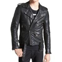 Laverapelle Men's Genuine Lambskin Leather Jacket (Double Rider Jacket) - 1501409