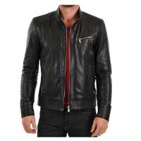 Laverapelle Men's Genuine Lambskin Leather Jacket (Racer Jacket) - 1501447