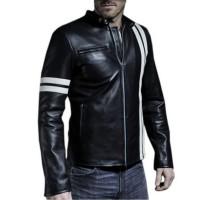 Laverapelle Men's Genuine Lambskin Leather Jacket (Racer Jacket) - 1501384