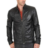 Laverapelle Men's Genuine Lambskin Leather Jacket (Classic Jacket) - 1501125