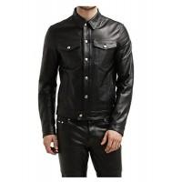 Laverapelle Men's Genuine Lambskin Leather Jacket (Officer Jacket) - 1501132