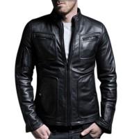 Laverapelle Men's Genuine Lambskin Leather Jacket (Fencing Jacket) - 1501133