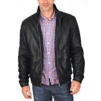 Laverapelle Men's Genuine Lambskin Leather Jacket (Racer Jacket) - 1501462