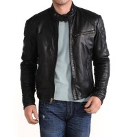 Laverapelle Men's Genuine Lambskin Leather Jacket (Fencing Jacket) - 1501423