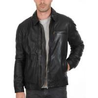 Laverapelle Men's Genuine Lambskin Leather Jacket (Aviator Jacket) - 1501389