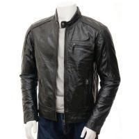 Laverapelle Men's Genuine Lambskin Leather Jacket (Racer Jacket) - 1501425