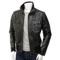 Laverapelle Men's Genuine Lambskin Leather Jacket (Bomber Jacket) - 1501466