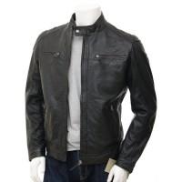 Laverapelle Men's Genuine Lambskin Leather Jacket (Racer Jacket) - 1501394