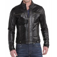 Laverapelle Men's Genuine Lambskin Leather Jacket (Fencing Jacket) - 1501266