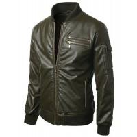 Laverapelle Men's Genuine Lambskin Leather Jacket (Bomber Jacket) - 1501286