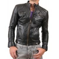 Laverapelle Men's Genuine Lambskin Leather Jacket (Racer Jacket) - 1501275
