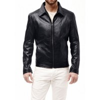 Laverapelle Men's Genuine Lambskin Leather Jacket (Aviator Jacket) - 1501241