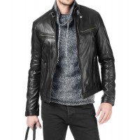 Laverapelle Men's Genuine Lambskin Leather Jacket (Fencing Jacket) - 1501161