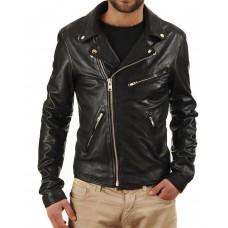 Laverapelle Men's Genuine Lambskin Leather Jacket (Rocker Jacket) - 1501325