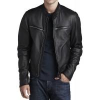 Laverapelle Men's Genuine Lambskin Leather Jacket (Racer Jacket) - 1501316