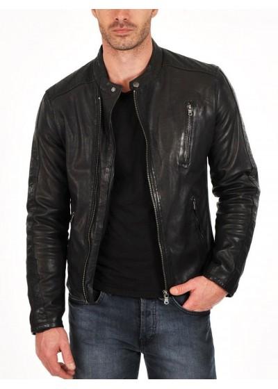 Laverapelle Men's Genuine Lambskin Leather Jacket (Classic Jacket) - 1501159