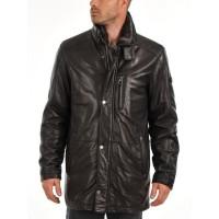 Laverapelle Men's Genuine Lambskin Leather Coat (Long Coat) - 1502208