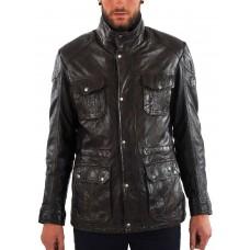Laverapelle Men's Genuine Lambskin Leather Coat (Long Coat) - 1502370