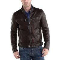 Laverapelle Men's Genuine Lambskin Leather Jacket (Racer Jacket) - 1501233