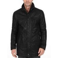 Laverapelle Men's Genuine Lambskin Leather Coat (Long Coat) - 1502346