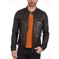 Laverapelle Men's Genuine Lambskin Leather Jacket (Classic Jacket) - 1501196
