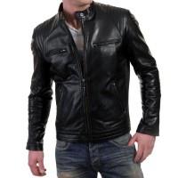 Laverapelle Men's Genuine Lambskin Leather Jacket (Fencing Jacket) - 1501309