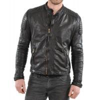 Laverapelle Men's Genuine Lambskin Leather Jacket (Fencing Jacket) - 1501352