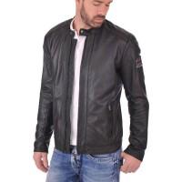 Laverapelle Men's Genuine Lambskin Leather Jacket (Racer Jacket) - 1501469