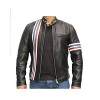 Laverapelle Men's Genuine Lambskin Leather Jacket (Racer Jacket) - 1501512