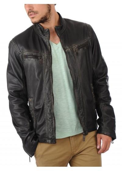 Laverapelle Men's Genuine Lambskin Leather Jacket (Racer Jacket) - 1501489