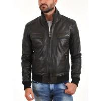 Laverapelle Men's Genuine Lambskin Leather Jacket (Bomber Jacket) - 1501478