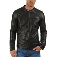 Laverapelle Men's Genuine Lambskin Leather Jacket (Racer Jacket) - 1501383