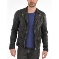Laverapelle Men's Genuine Lambskin Leather Jacket (Double Rider Jacket) - 1501492