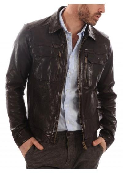 Laverapelle Men's Genuine Lambskin Leather Jacket (Regal Jacket) - 1501483