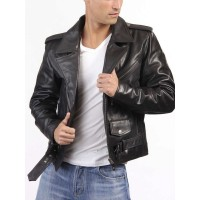 Laverapelle Men's Genuine Lambskin Leather Jacket (Double Rider Jacket) - 1501523