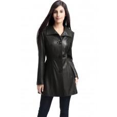 Laverapelle Women's Genuine Lambskin Leather Coat - 1510683