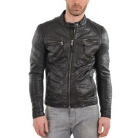 Laverapelle Men's Genuine Lambskin Leather Jacket (Fencing Jacket) - 1501339