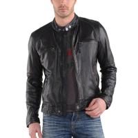 Laverapelle Men's Genuine Lambskin Leather Jacket (Racer Jacket) - 1501555