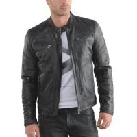 Laverapelle Men's Genuine Lambskin Leather Jacket (Racer Jacket) - 1501476