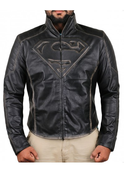 Laverapelle Men's Genuine Cow Ruboff Leather Jacket (fencing Jacket) - Superman